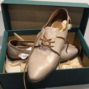 BUENO Olivia grey leather shoe NIB 41 10-11